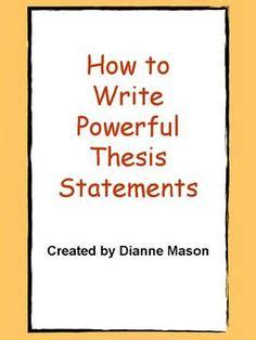 How to Write a Great Thesis Statement Scribendi