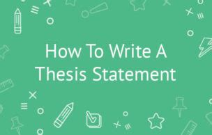 Writing Resources - Creating a Thesis Statement - Hamilton